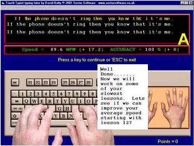 Learn to type with touch typist typing tutor.